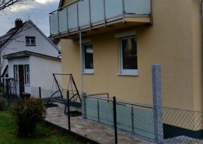 Balkongeländer Edelstahl + Montage unter der Balkonplatte